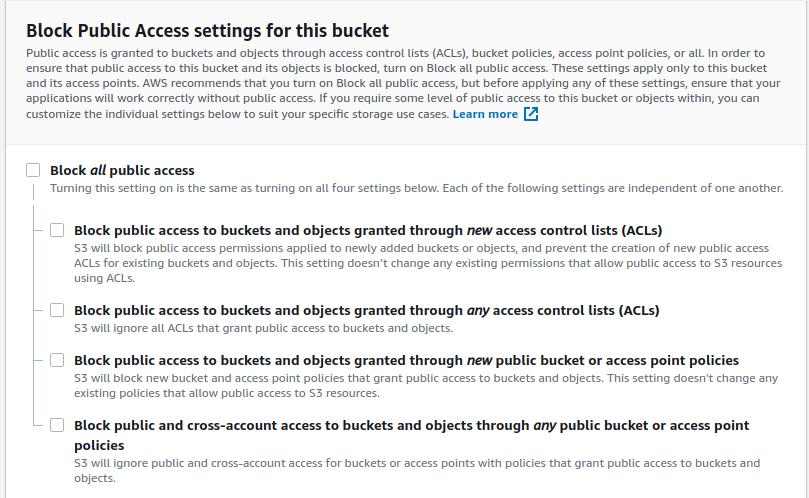 Allow public access