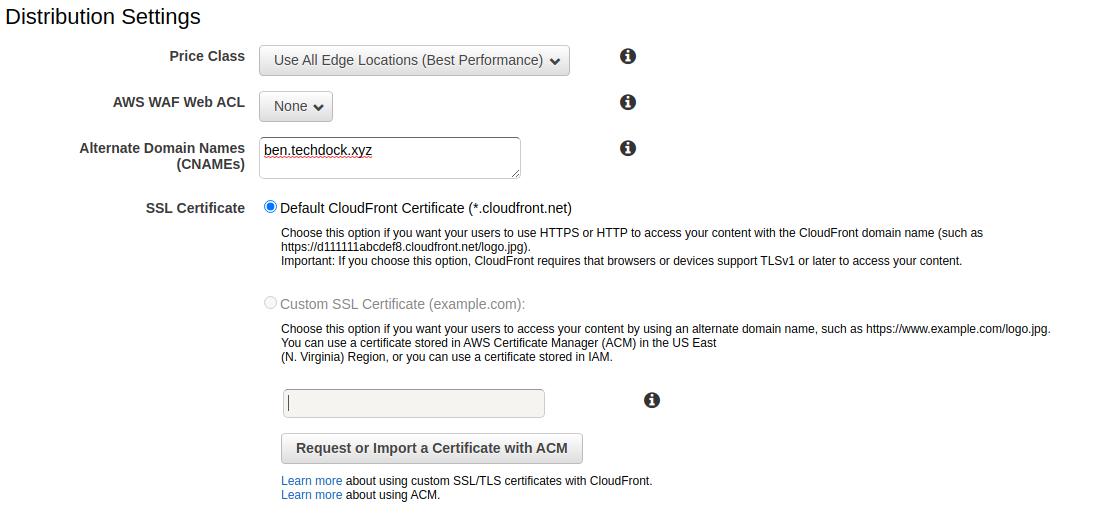select SSL certificate