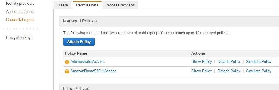 User access permissions